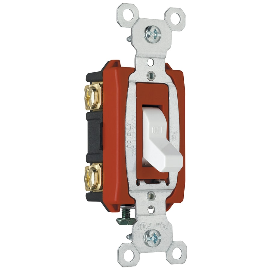 Legrand 15/20-Amp Double Pole White Indoor Toggle Light Switch