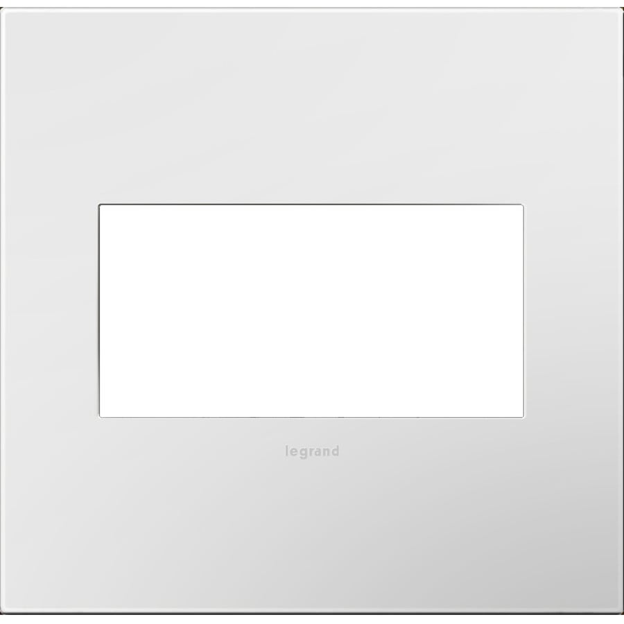 Legrand adorne 2-Gang Gloss White Double Square Wall Plate