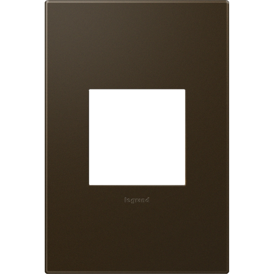 Legrand adorne 1-Gang Bronze Single Square Wall Plate