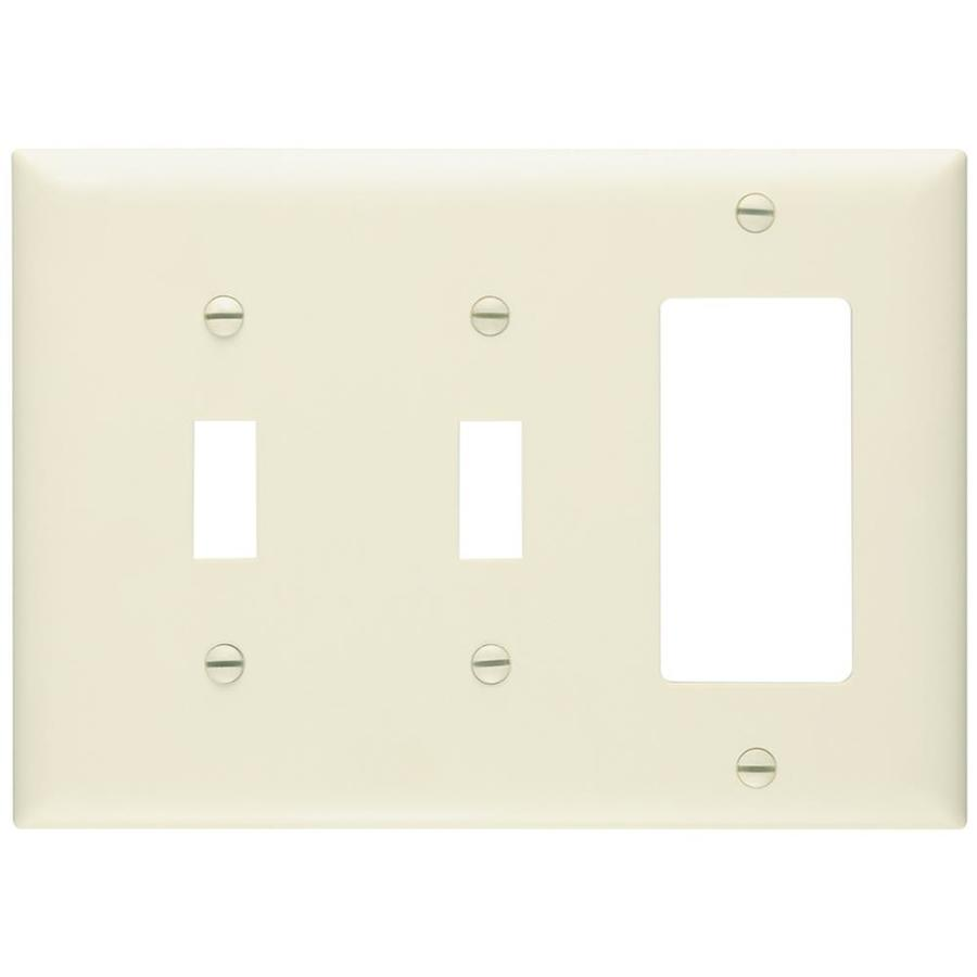 Legrand Trademaster 3-Gang White Triple Toggle/Decorator Wall Plate