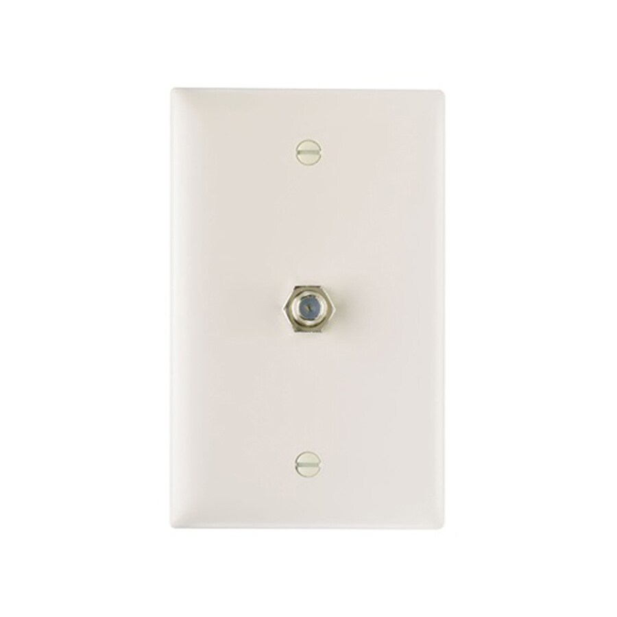 Legrand 1-Gang Light Almond Single Coaxial Wall Plate Adapter