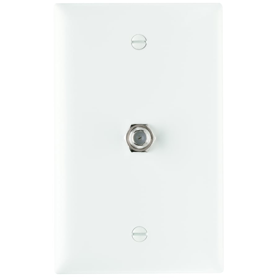 Legrand 1-Gang White Single Coaxial Wall Plate Adapter