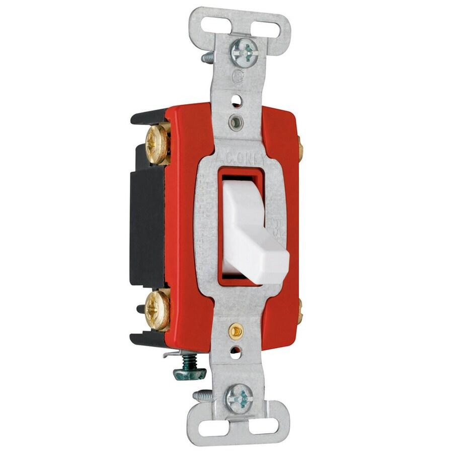 Pass & Seymour/Legrand 20-Amp White 4-Way Light Switch