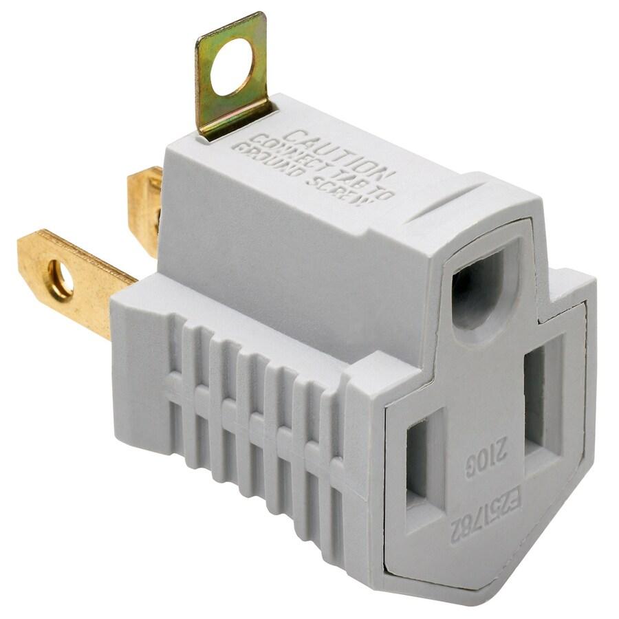 Pass & Seymour/Legrand 2-Wire Single to Single Gray Basic Adapter