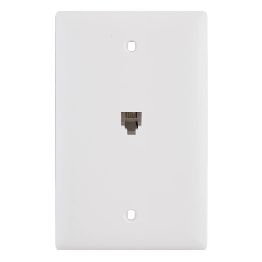 Pass & Seymour/Legrand 1-Gang White Phone Nylon Wall Plate