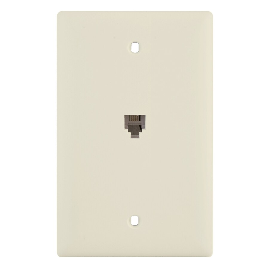 Pass & Seymour/Legrand 1-Gang Light Almond Phone Nylon Wall Plate