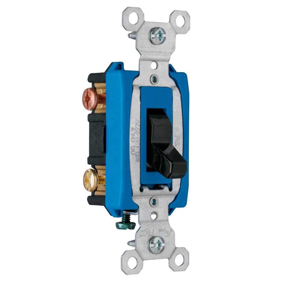 Pass & Seymour/Legrand 3-Way Single Pole Black Light Switch