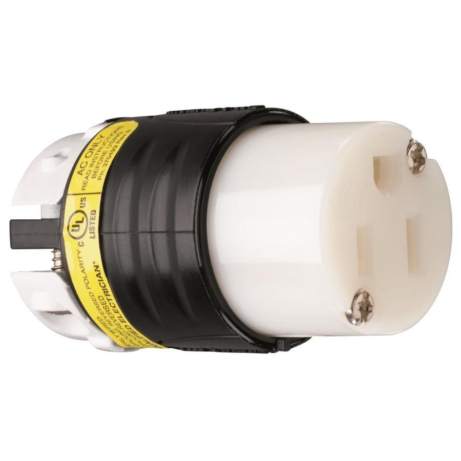 Pass & Seymour/Legrand 15-Amp 125-Volt Black 3-Wire Grounding Connector
