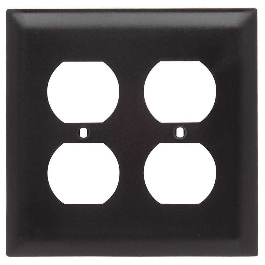 Legrand Trademaster 2-Gang Light Almond Double Duplex Wall Plate