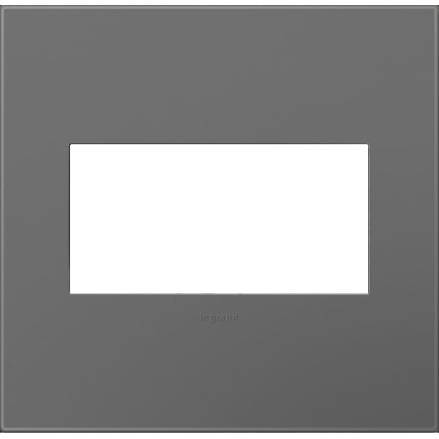 Legrand adorne 2-Gang Magnesium Double Square Wall Plate