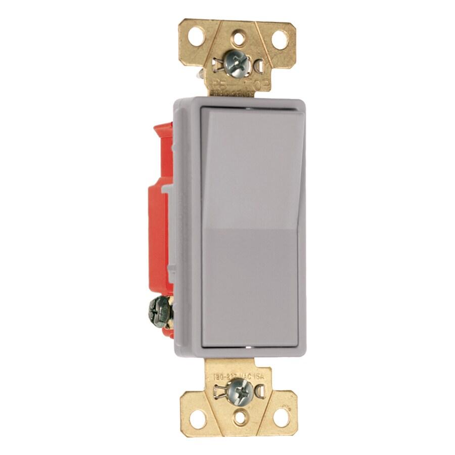 Legrand 15/20-Amp Single Pole Gray Indoor Rocker Light Switch