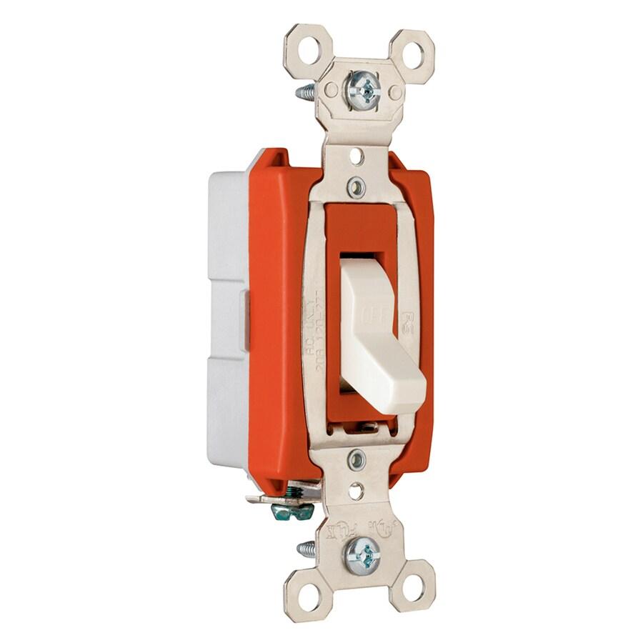 Legrand 15/20-Amp Single Pole Light Almond Indoor Toggle Light Switch