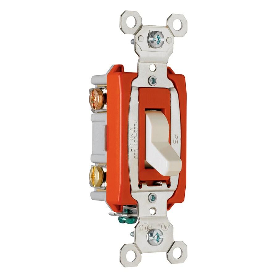 Legrand 15/20-Amp 3-Way Light Almond Indoor Toggle Light Switch