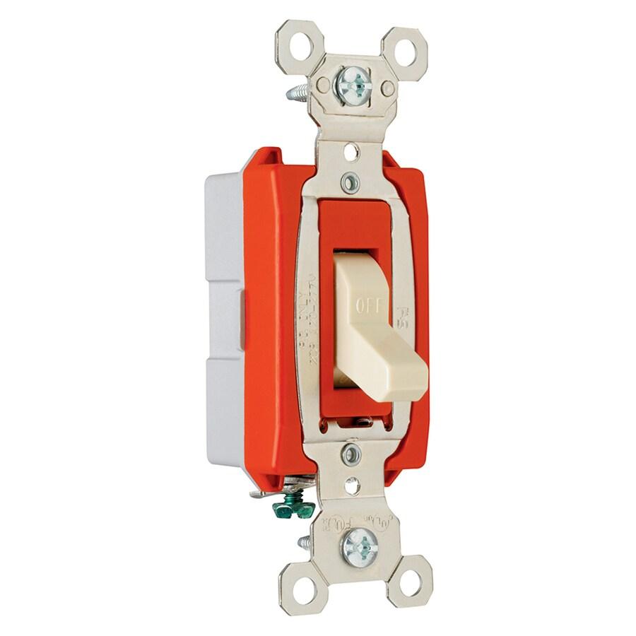 Legrand 15/20-Amp Single Pole Gray Indoor Toggle Light Switch