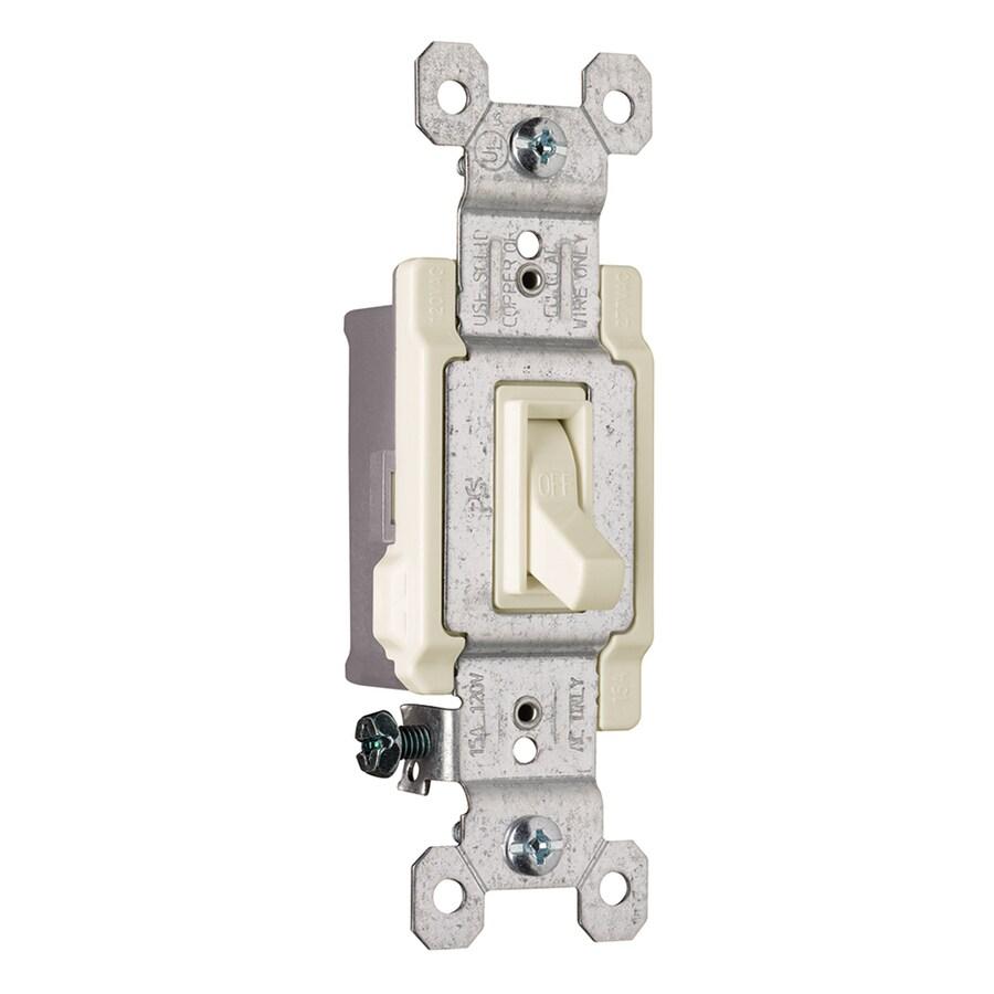 Legrand 15/20-Amp Single Pole Light Almond Indoor Framed Toggle Light Switch