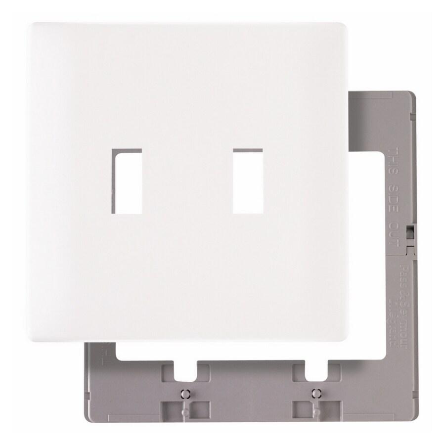 Pass & Seymour/Legrand 1-Gang White Toggle Wall Plate