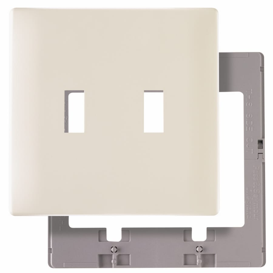 Pass & Seymour/Legrand 2-Gang Light Almond Toggle Wall Plate