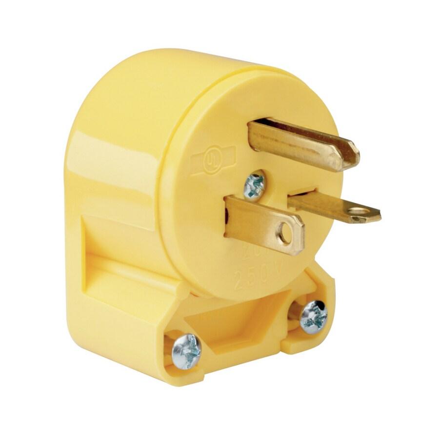 Pass & Seymour/Legrand 20-Amp 250-Volt Yellow 3-Wire Grounding Plug