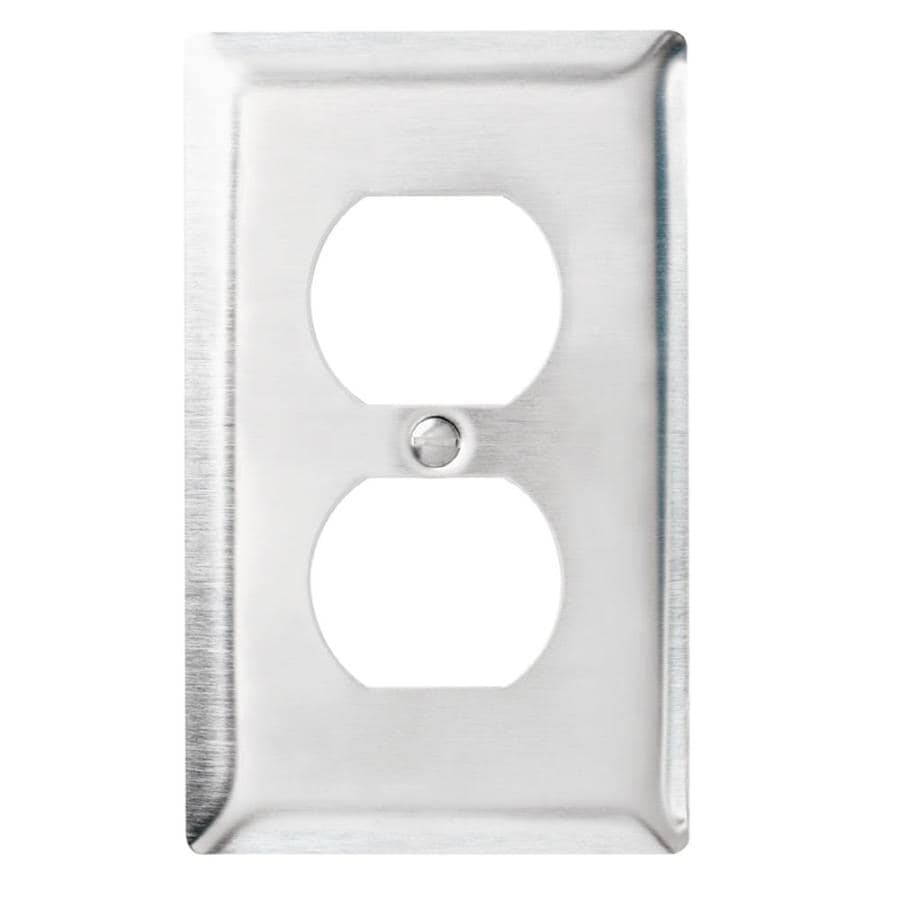 Legrand 1-Gang Stainless Steel Standard Duplex Receptacle Stainless Steel Wall Plate