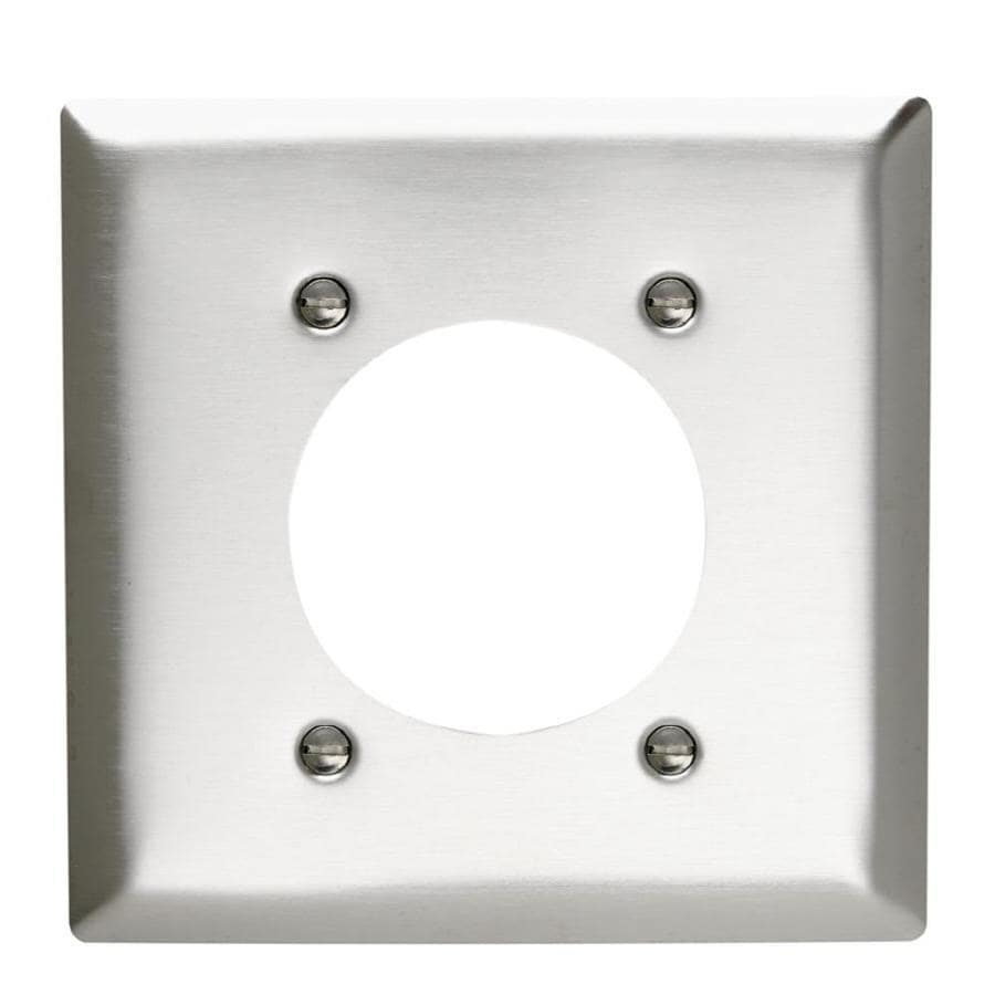 Pass & Seymour/Legrand 2-Gang Stainless Steel Round Wall Plate