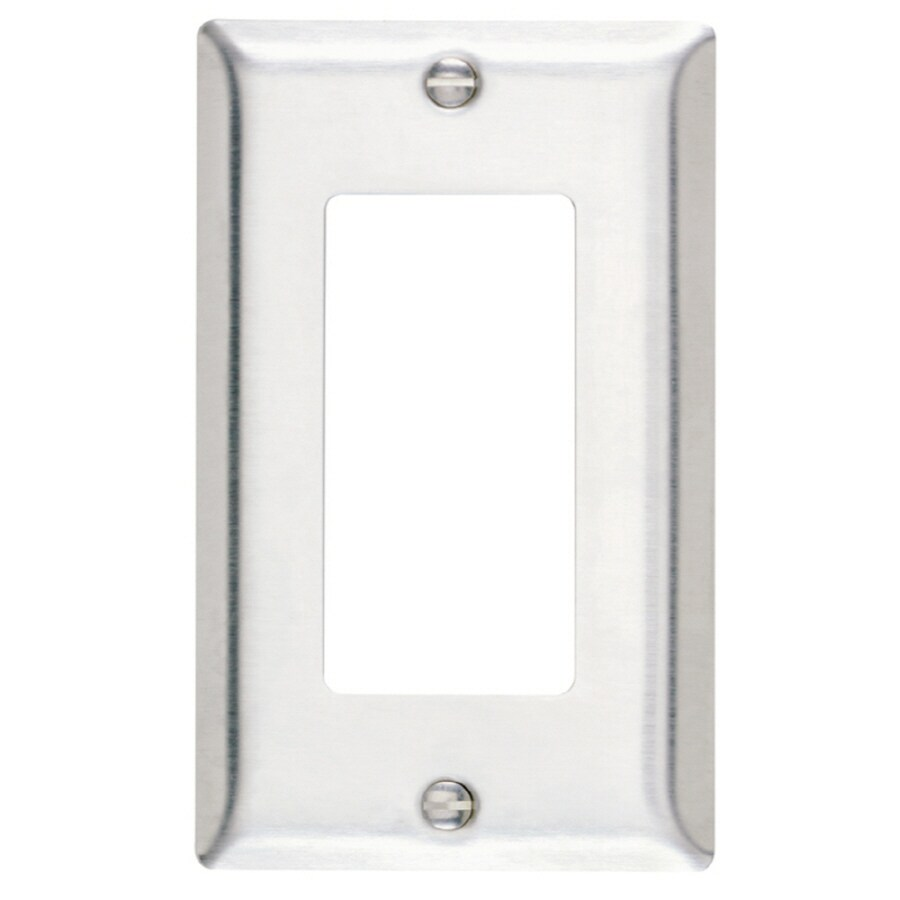 Legrand 1-Gang Stainless Steel Decorator Single Receptacle Stainless Steel Wall Plate
