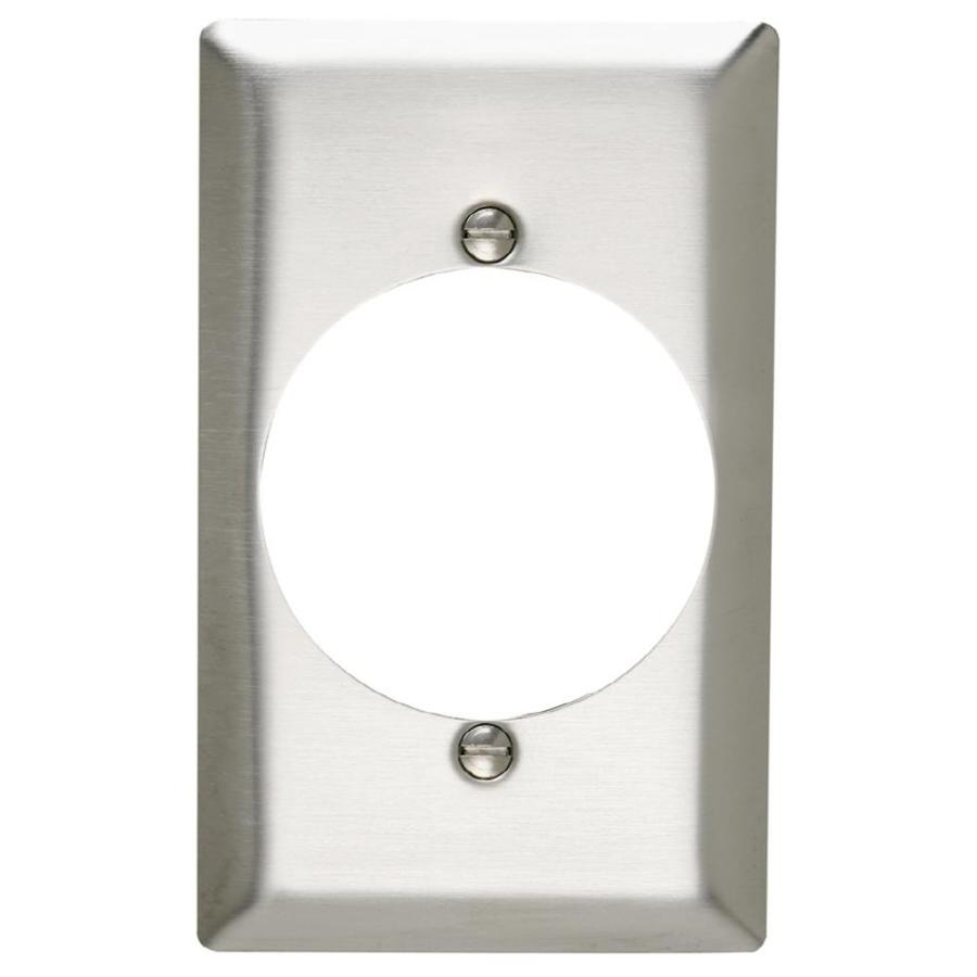 Pass & Seymour/Legrand 1-Gang Stainless Steel Round Wall Plate