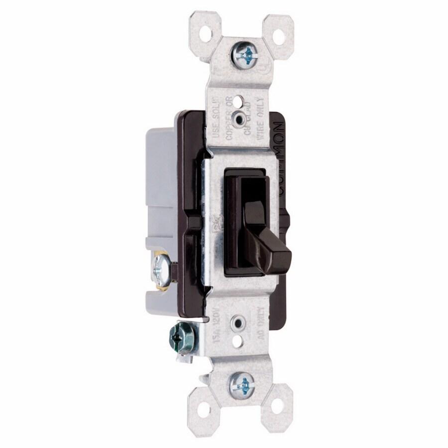 Pass & Seymour/Legrand 3-Way Single Pole White Light Switch