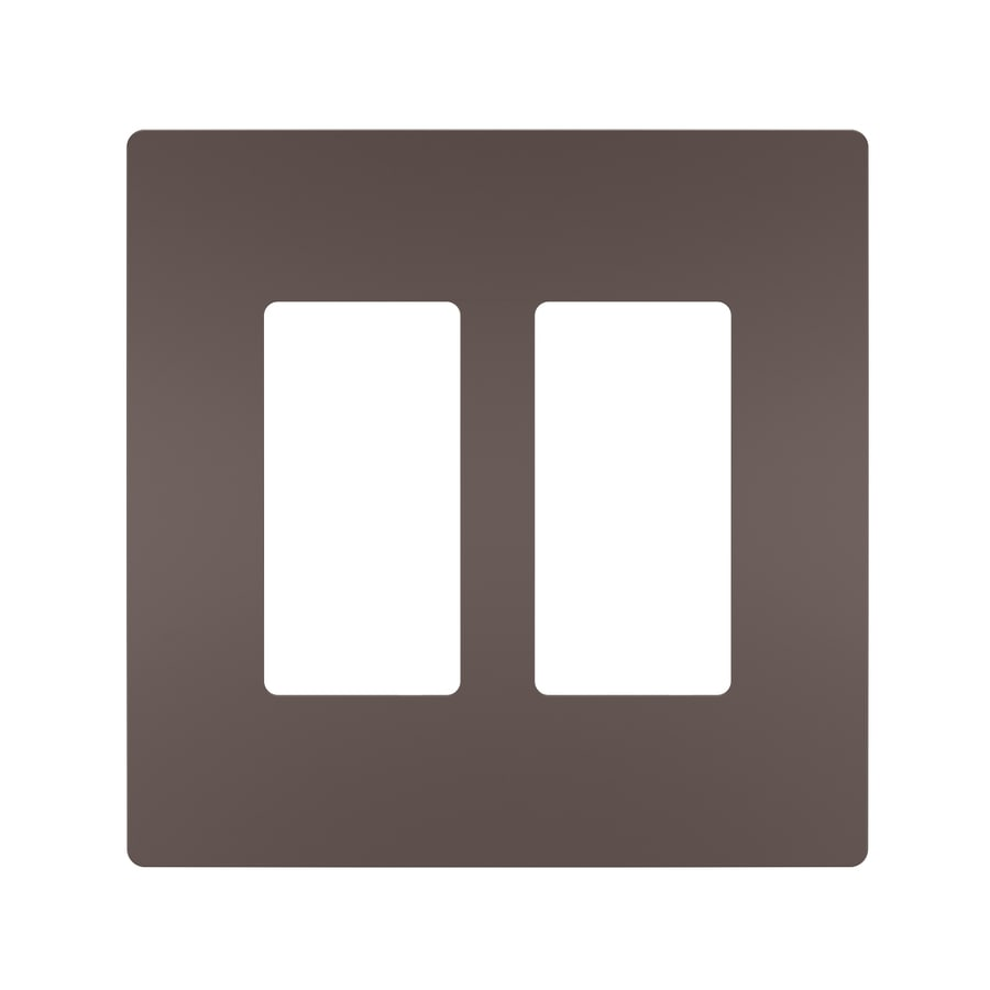 Legrand Radiant 2-Gang Dark Bronze Double Decorator Wall Plate
