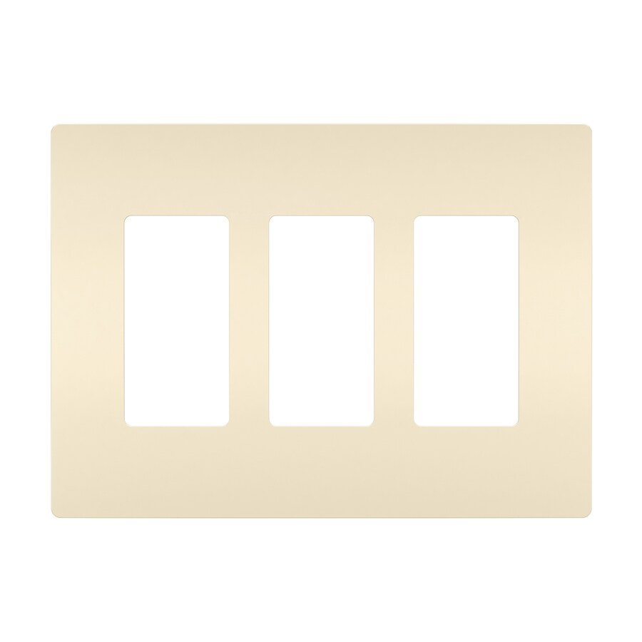 Legrand Radiant 3-Gang Light Almond Triple Decorator Wall Plate