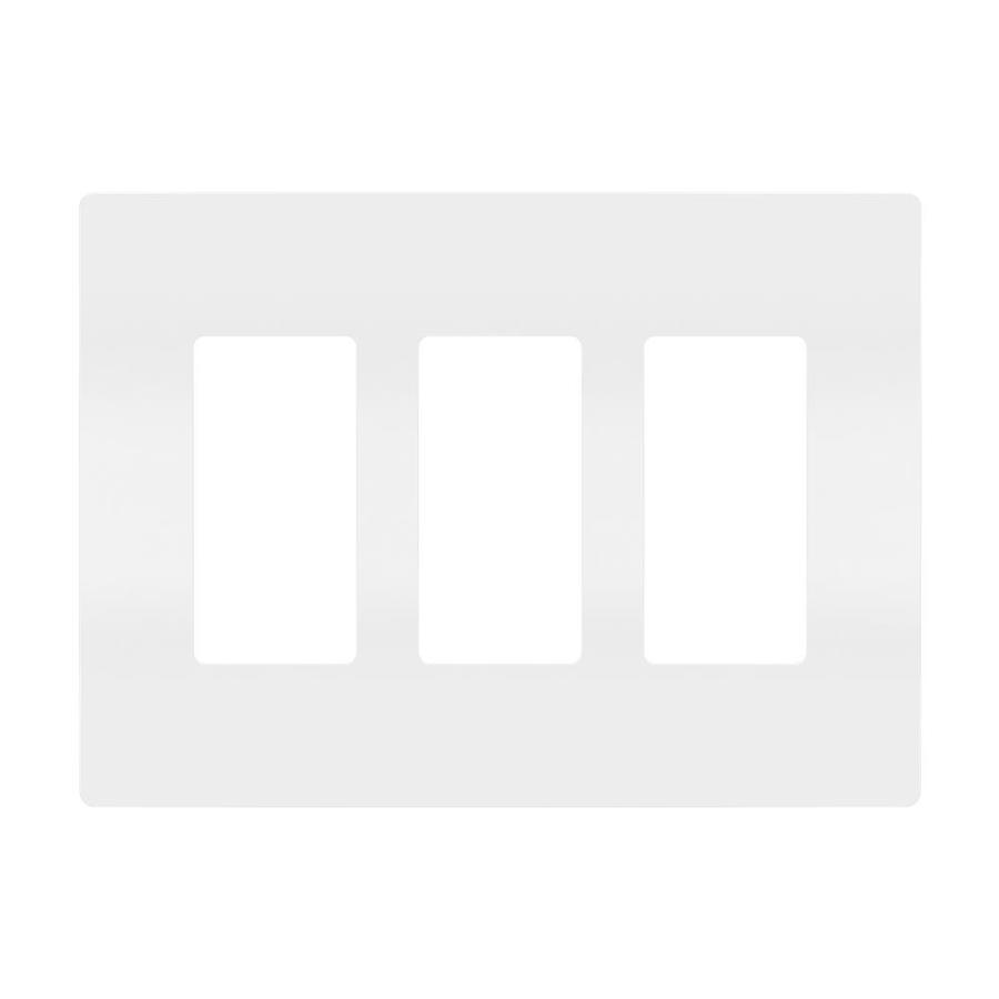 Legrand Radiant 3-Gang White Triple Decorator Wall Plate
