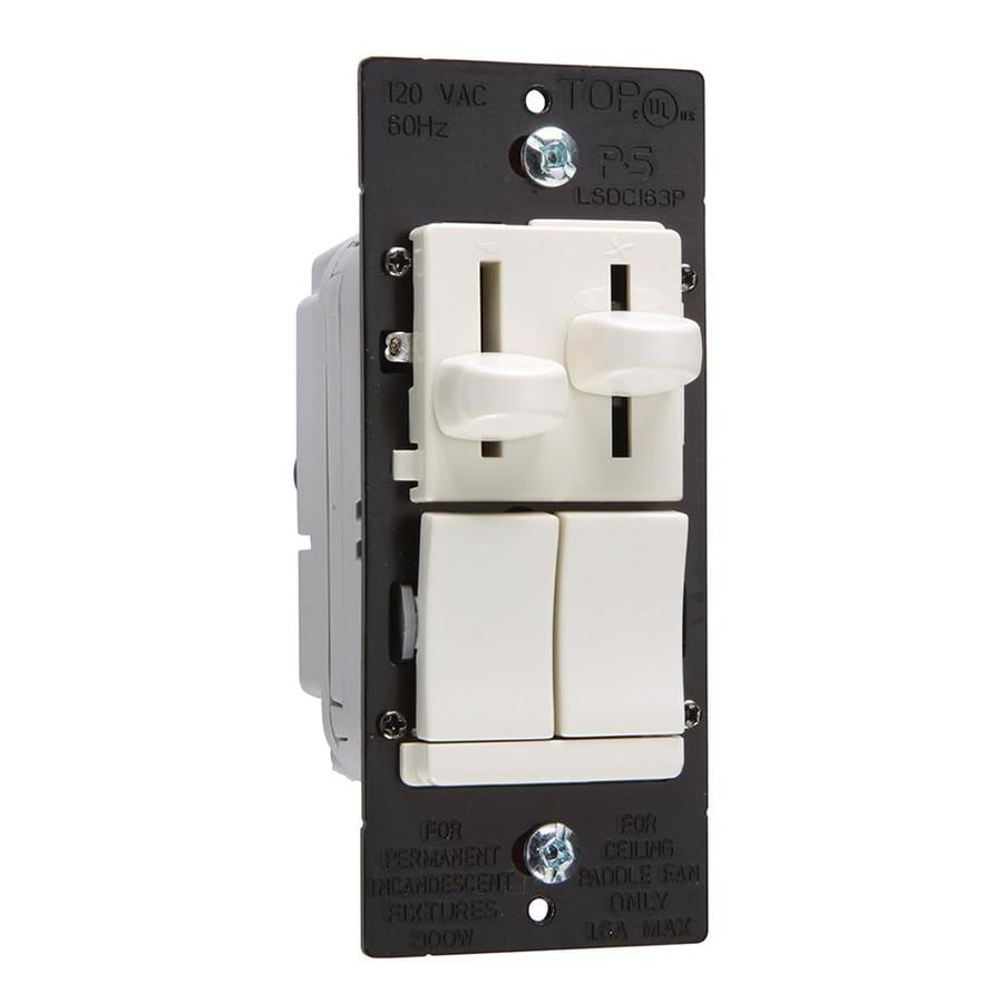 Pass & Seymour/Legrand 3-Way Slide Combination Dimmer and Fan Control