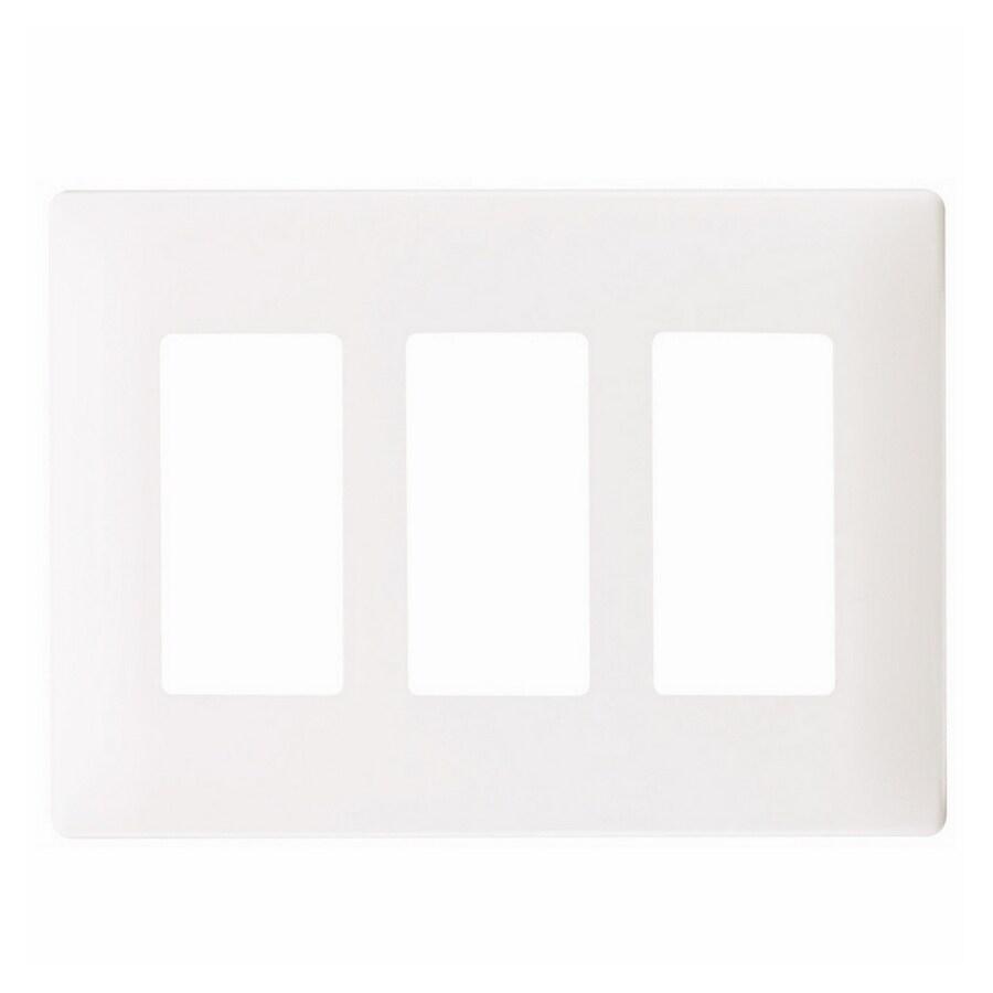 Pass & Seymour/Legrand 3-Gang White Decorator Wall Plate