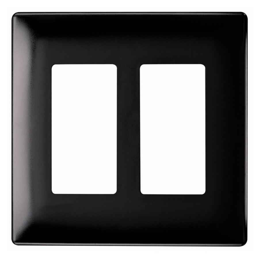 Pass & Seymour/Legrand 2-Gang Black Decorator Wall Plate