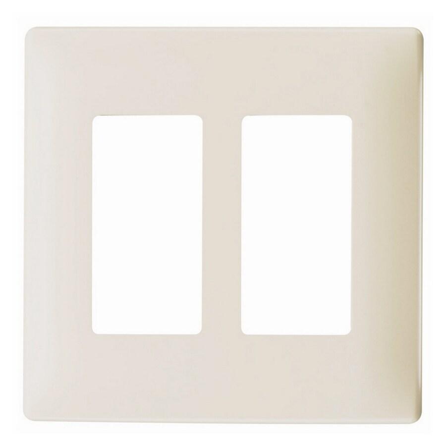 Pass & Seymour/Legrand 2-Gang Light Almond Decorator Wall Plate