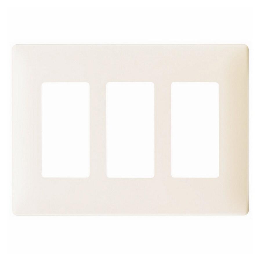 Pass & Seymour/Legrand 3-Gang Light Almond Decorator Wall Plate