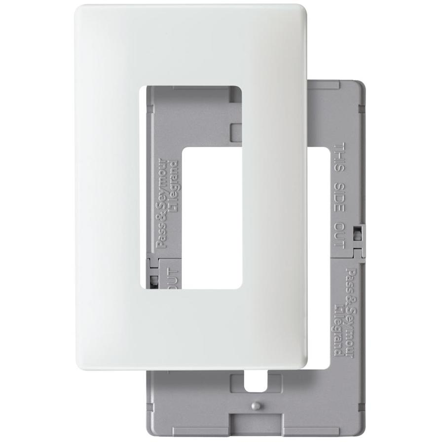 Pass & Seymour/Legrand 1-Gang White Round Wall Plate