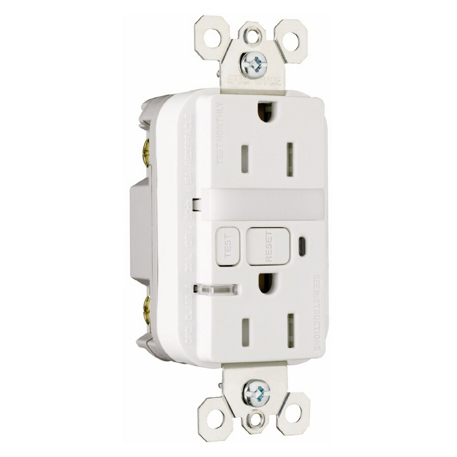 Pass & Seymour/Legrand White Decorator Tamper Resistant Electrical Outlet