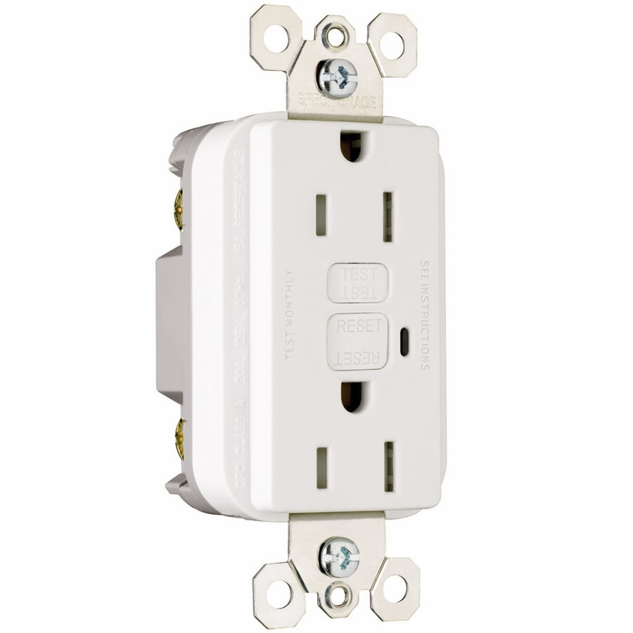 Pass & Seymour/Legrand 3-Pack 15-Amp 125-Volt White GFCI Decorator Tamper Resistant Electrical Outlet