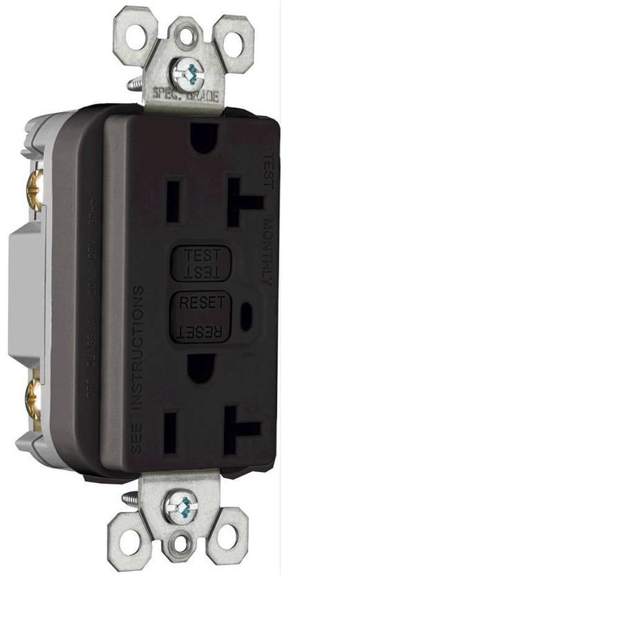 Pass & Seymour/Legrand 20-Amp 125-Volt Black GFCI Decorator Tamper Resistant Electrical Outlet