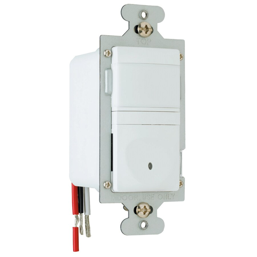 Pass & Seymour/Legrand Single Pole White Motion Light Switch
