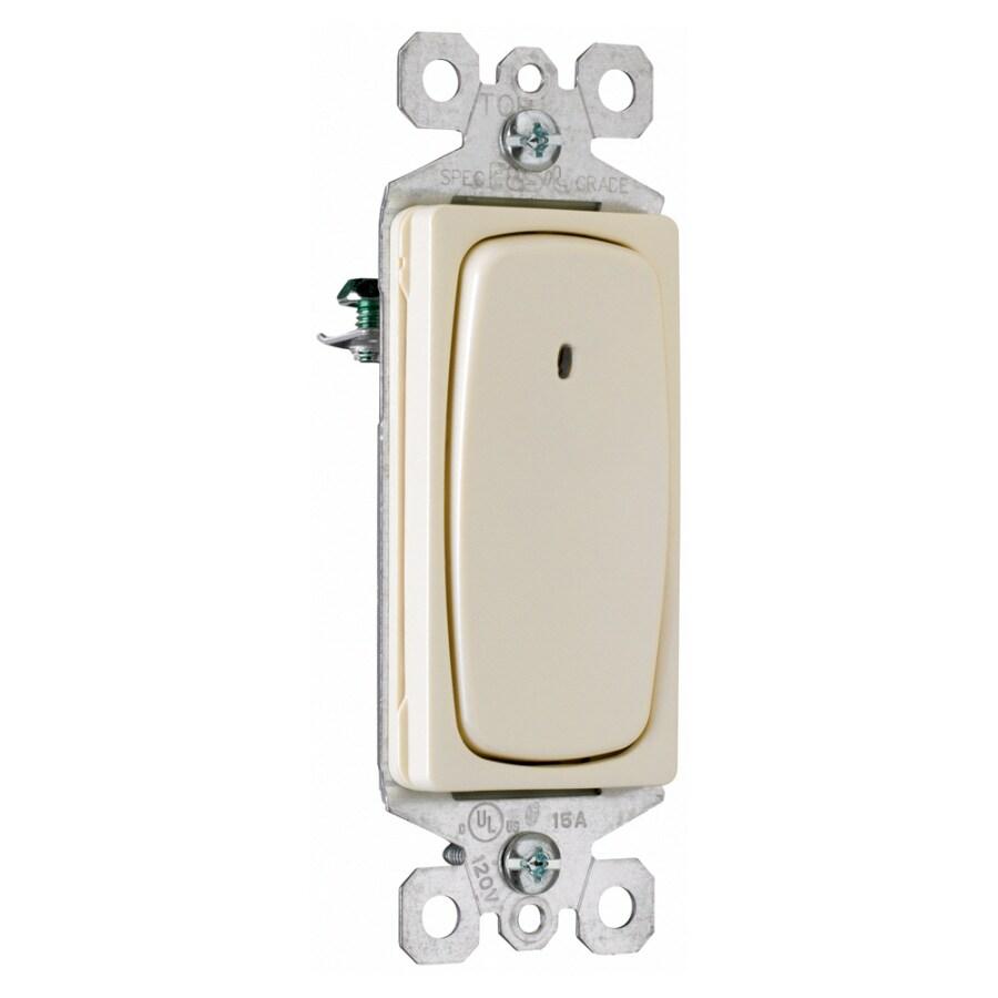 Pass & Seymour/Legrand 3-Way Single Pole Light Almond Light Switch