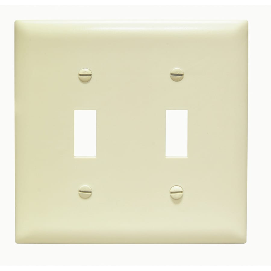 Pass & Seymour/Legrand Trademaster 2-Gang Ivory Double Toggle Wall Plate
