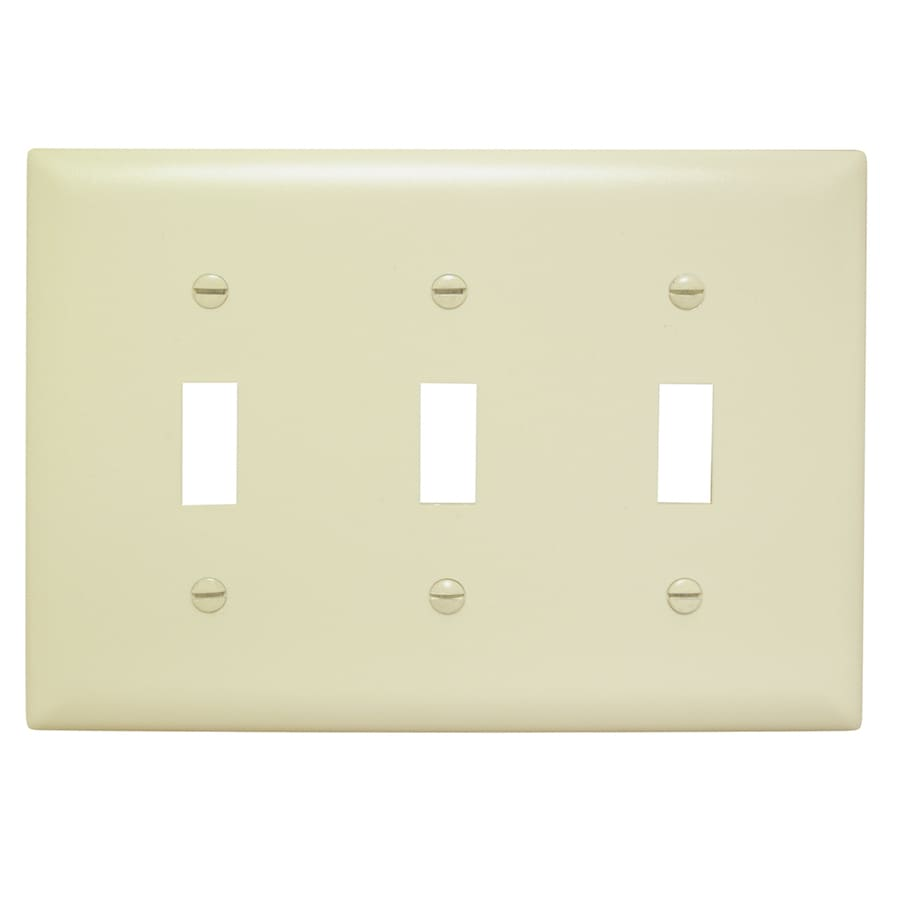 Pass & Seymour/Legrand Trademaster 3-Gang Ivory Triple Toggle Wall Plate