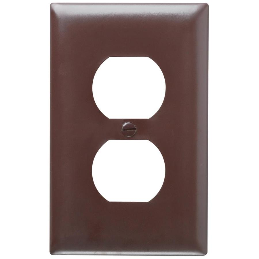 Pass & Seymour/Legrand Trademaster 1-Gang Brown Single Duplex Wall Plate