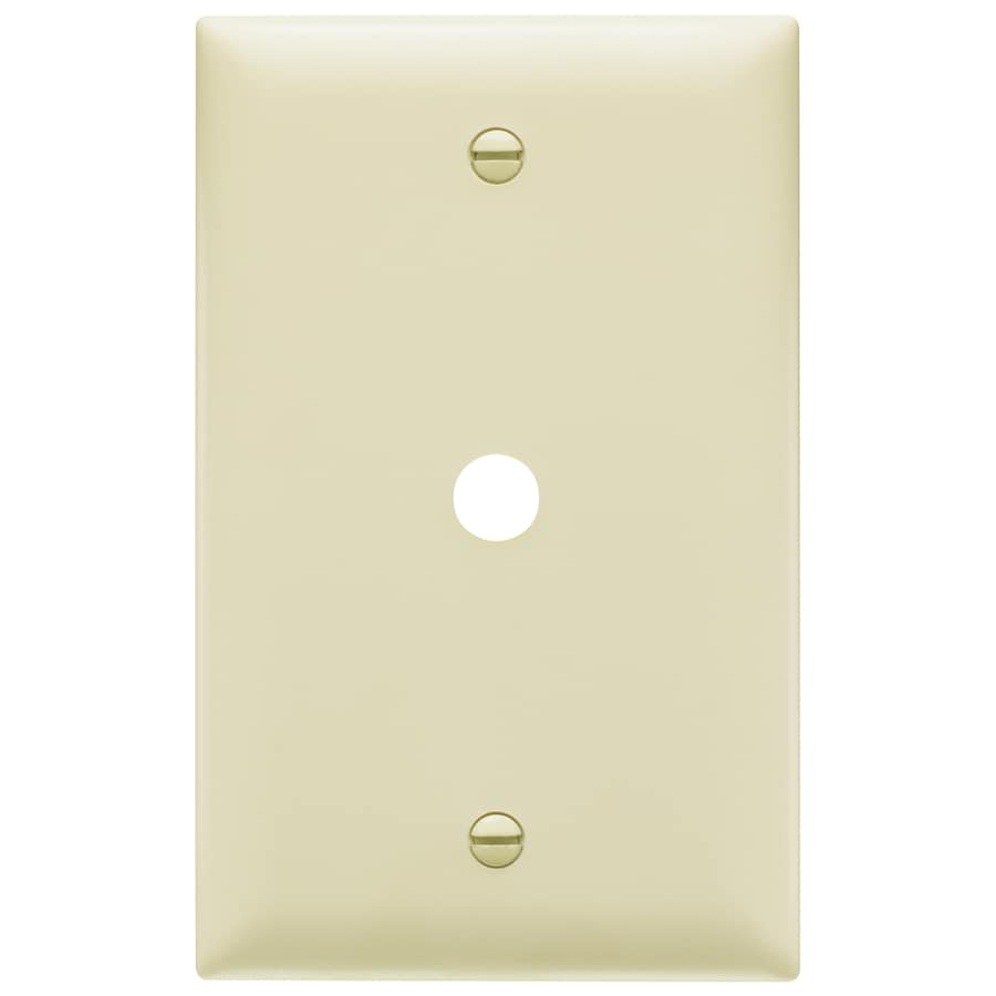 Pass & Seymour/Legrand Trademaster 1-Gang Ivory Single Coaxial Wall Plate Adapter