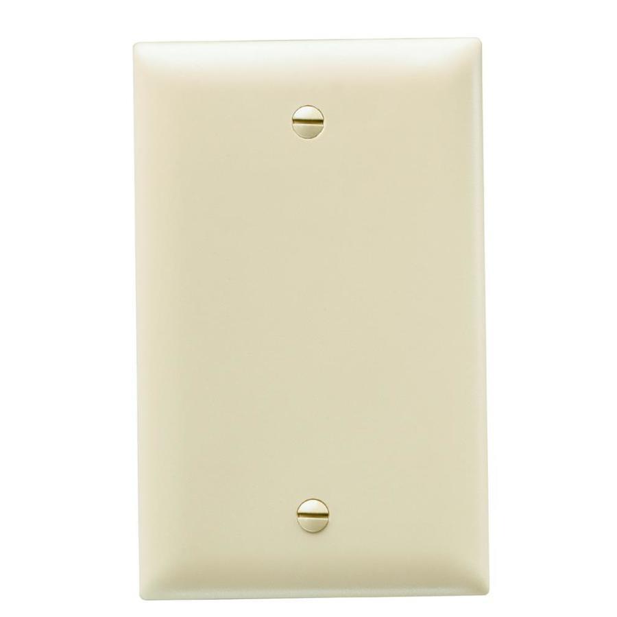 Legrand Trademaster 1-Gang Ivory Single Blank Wall Plate