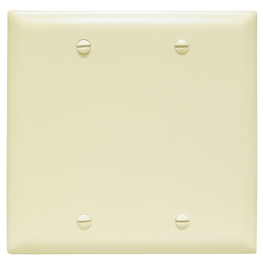 Pass & Seymour/Legrand Trademaster 2-Gang Ivory Double Blank Wall Plate