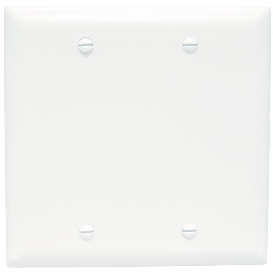 Pass & Seymour/Legrand Trademaster 2-Gang White Double Blank Wall Plate