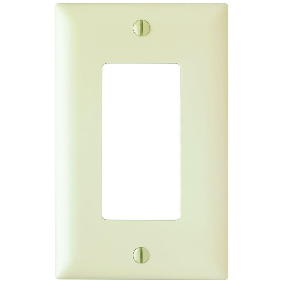 Pass & Seymour/Legrand Trademaster 1-Gang Light Almond Single Decorator Wall Plate
