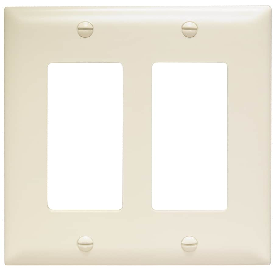 Pass & Seymour/Legrand Trademaster 2-Gang Light Almond Double Decorator Wall Plate